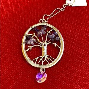 Tree with amethyst stones